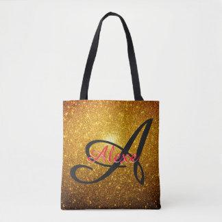 Golden Sparkles Tote Bag