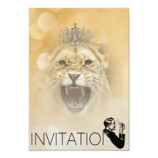 Golden Sparkling Gentelmen Invitation