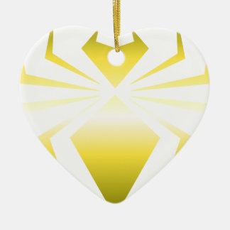 Golden Spider Ceramic Heart Decoration