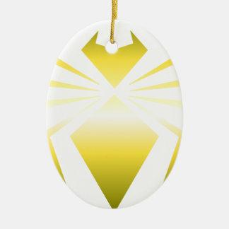 Golden Spider Ceramic Oval Decoration