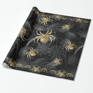 Golden Spider Gift Wrapping Paper