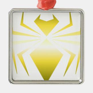 Golden Spider Silver-Colored Square Decoration