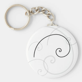 Golden Spiral Key Ring