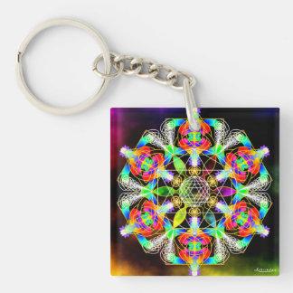 Golden Spiral of Life/Alchemy of Joy Key Ring