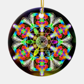 Golden Spiral of Life/Alchemy of Joy Round Ceramic Decoration
