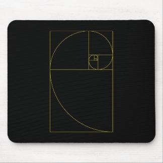 Golden Spiral Sacred Geometry Mouse Mat