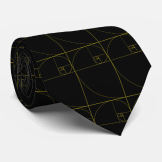 Golden Spiral Sacred Geometry Tie