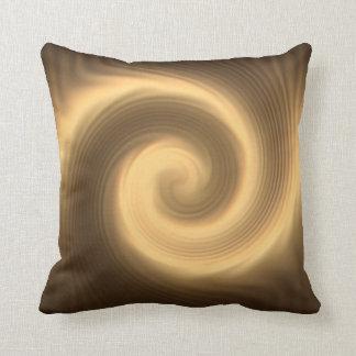 Golden spiral texture cushion