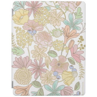 Golden spring flowers colourful ipad cover