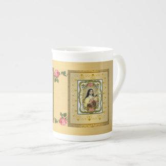 Golden St. Therese Bone China Mug GIFT ITEM
