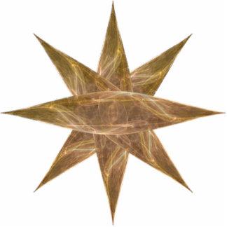 Golden Star Abstract Art Photo Sculpture Magnet