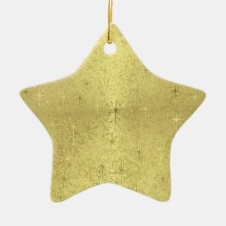 Golden Star Ceramic Star Decoration