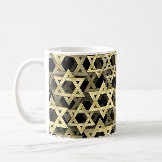 Golden Star Of David Basic White Mug