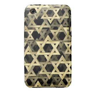 Golden Star Of David Case-Mate iPhone 3 Case