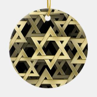 Golden Star Of David Christmas Ornament