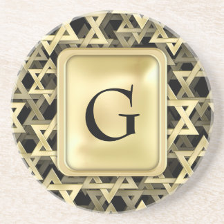 Golden Star Of David Coaster