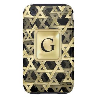 Golden Star Of David iPhone 3 Tough Covers