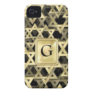 Golden Star Of David iPhone 4 Case