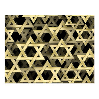 Golden Star Of David Postcard
