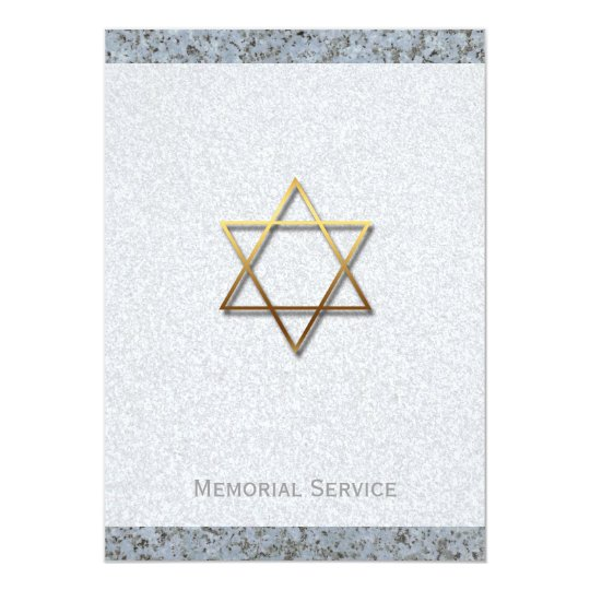 Golden Star of David Stone 1 Memorial Service
