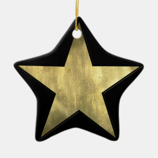 Golden Star Superstar Christmas Ornament