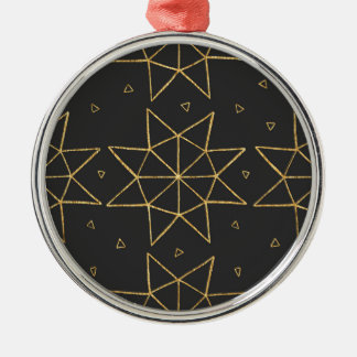 Golden Star Wheels Christmas Ornament