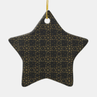 Golden Star Wheels Christmas Ornament