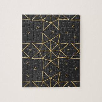 Golden Star Wheels Jigsaw Puzzle