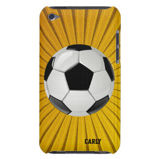 Golden Starburst Soccer Ball iPod Touch Case