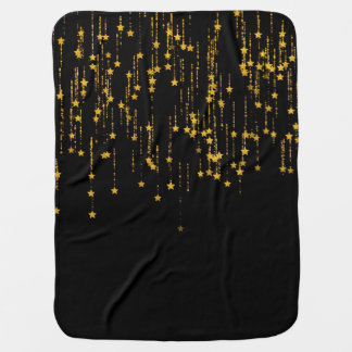 Golden Stars Baby Blanket