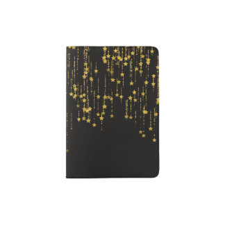 Golden Stars - Custom passport cover - LEMAT WORKS