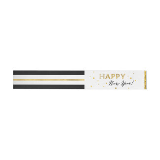 Golden Stars - Happy New Year Wraparound Labels