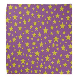 Golden Stars Purple Bandana