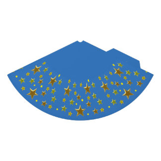 golden stars with blue background party hat
