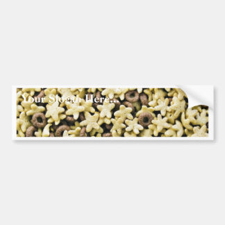 Golden Stars With Few Chocolate Rings Cereals Bumper Stickers