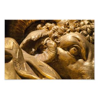 Golden Statue Detail Versailles Gardens Photographic Print