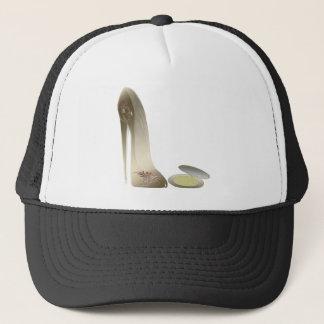 Golden Stiletto Shoe and Make-up Compact Art Trucker Hat