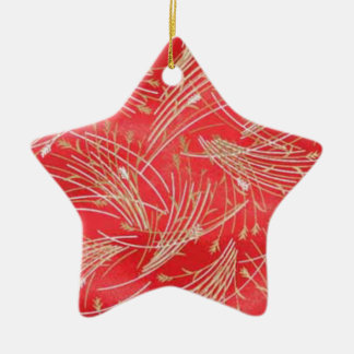 Golden Straw Chinese Red Friendship Christmas Ornament