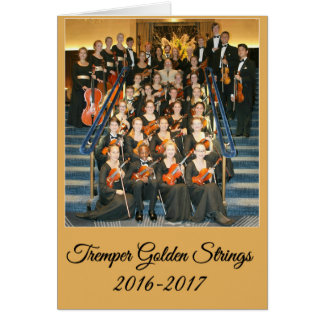 Golden Strings Card with Member's Names