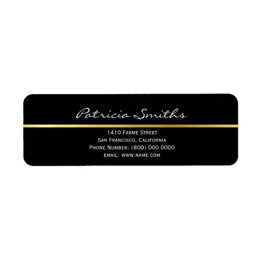 golden stripe, signature & return address label