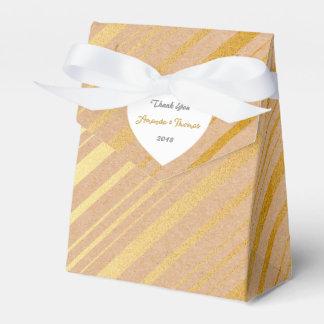 Golden Stripes Cardboard Birthday Wedding Favor Favour Box