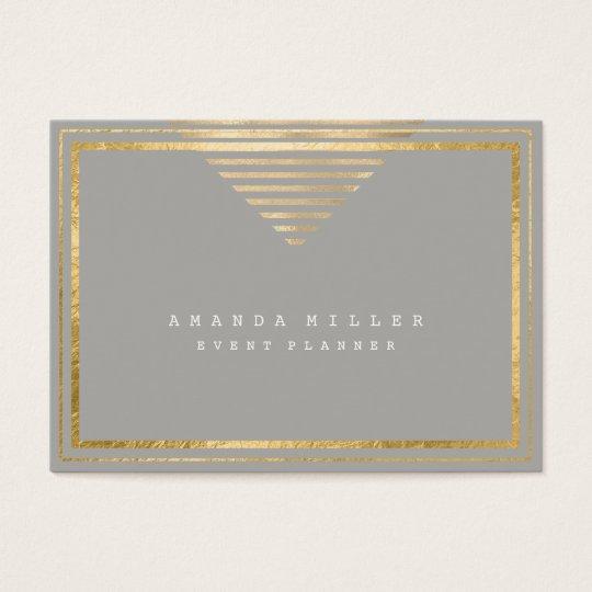 Golden Stripes Frame White Minimal Geometry Gray Business