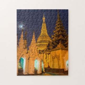 Golden Stupa And Temples Jigsaw Puzzle