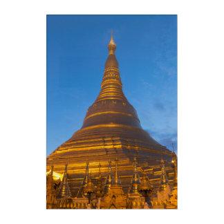 Golden Stupa Pagoga Acrylic Print