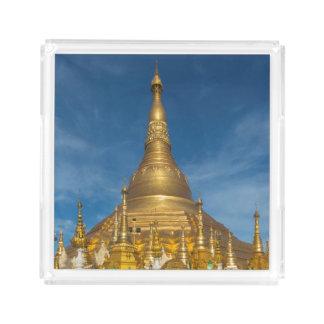 Golden Stupa Temple Acrylic Tray