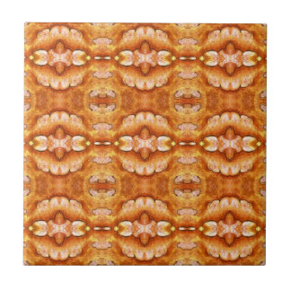 Golden Summer Sun Pattern Small Square Tile