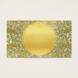 Golden Sun Background Business Card