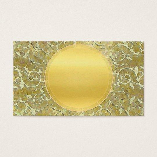 Golden Sun Background Business Card
