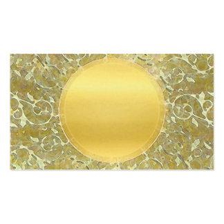 Golden Sun Background Pack Of Standard Business Cards