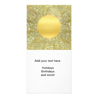 Golden Sun Background Photo Cards